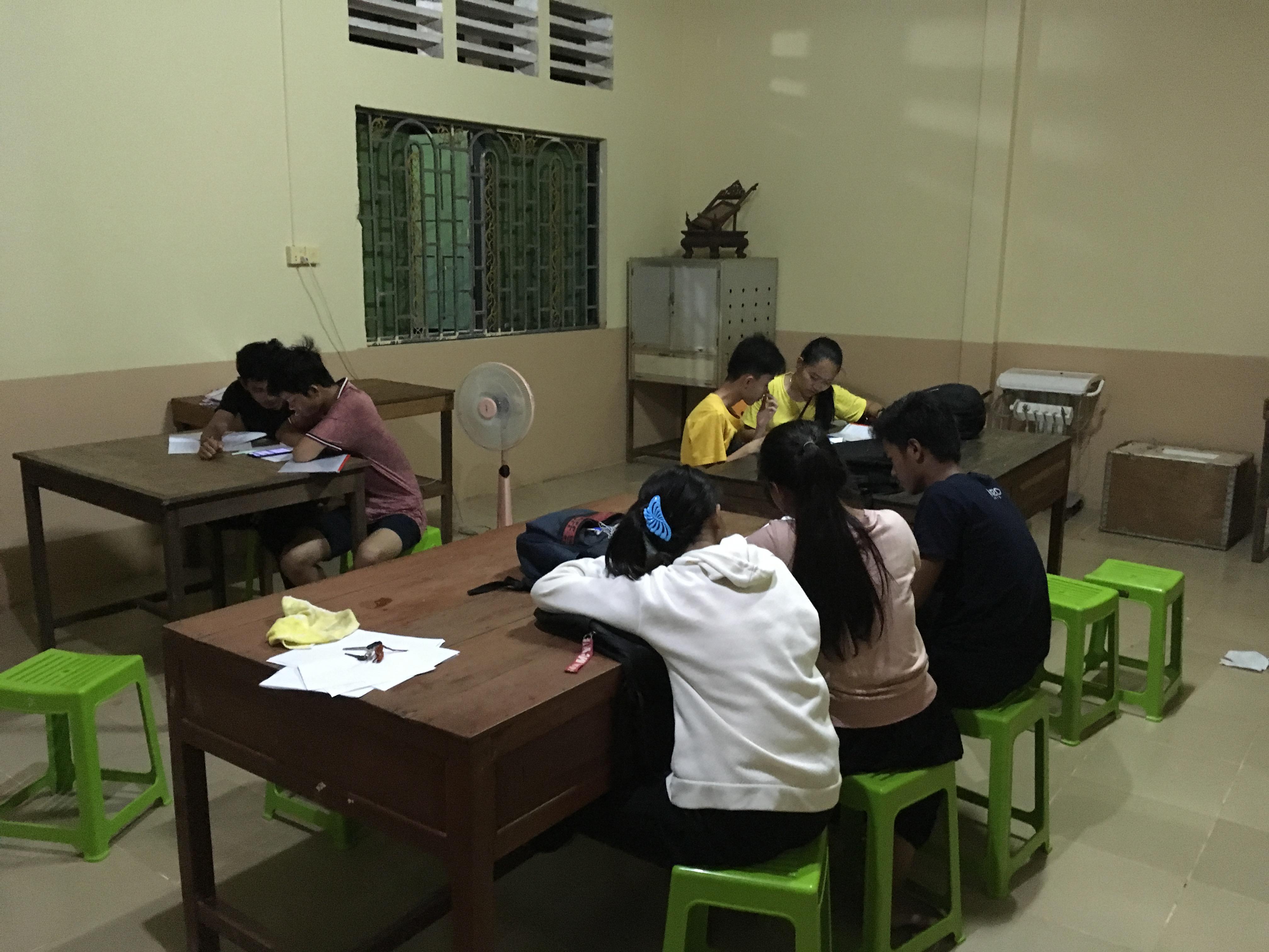 My Cambodian students taking phonetics test.